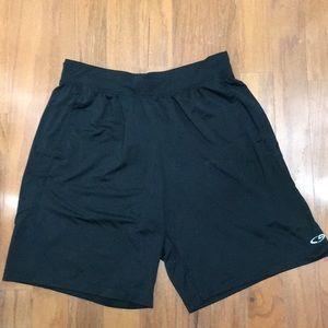 Black Champion athletic shorts